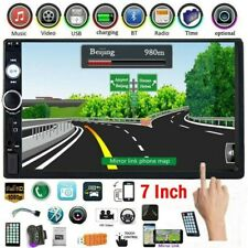 "Car Stereo Radio 7"" Double 2 Din Bluetooth Audio Receiver USB AUX IOS / Android"