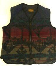 Vintage Woolrich Aztec Southwest Wool Made in Usa Indian Navajo Vest Medium