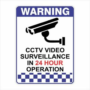 Security Signs -  CCTV VIDEO SURVEILLANCE IN 24 HOUR OPERATION