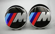 BMW (SET OF 4) 68mm M SPORT LOGO WHEEL CENTER CAPS B1