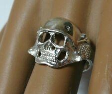 Vintage Russia Sterling Silver 950 Skull Ring