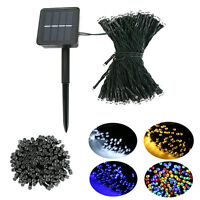 100/200/500 LED Solar String Fairy Lights Outdoor Party Xmas Lamp Waterproof US
