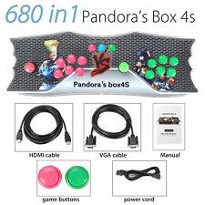 Classique Métal Double Console Pandora's Box 4S HD Arcade Jeux Station 2 Joueurs