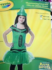 GIRLS CRAYON 4 5 6x Cosplay COSTUME Green GLITZ GLITTER