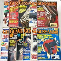 1990 Guns and Ammo Magazines - Lot of 11 - Missing June Edition