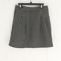 The Limited Women's Classic Black & White Polka Dotted Knee Length Skirt Size 0