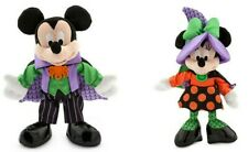 """US Disney Store Mickey Mouse 9"""" and Minnie Mouse 9"""" Halloween Plushes 2016 NWT!"""