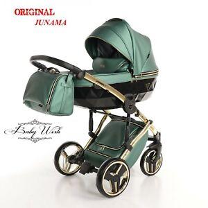 JUNAMA FLUO LINE BABY PRAM STROLLER 3in1 , CARRYCOT + PUSHCHAIR + CAR SEAT