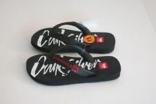 NWT Quiksilver Boy's 11 Java Art Series Black Sandals Flip Flops Shoes Thongs