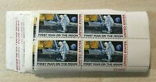 A group of 25 C76 First Man on the Moon 10 cent  plate blocks of 4 Mint NH OG