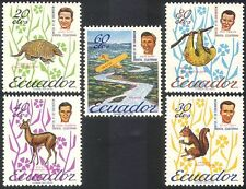 Ecuador 1965 Animals/Nature/Plane/Aircraft/Transport/Missionaries 5v set n27408