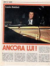 Q43 Clipping-Ritaglio 1976 Lucio Battisti