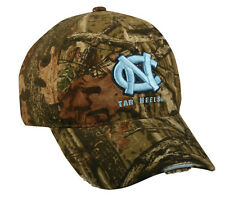 North Carolina/UNC Tar Heels Mossy Oak Break Up Camo Deer Hunting Hat/Cap $0 S&H
