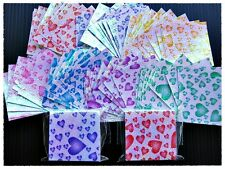 "140 sheets Origami papers folding kit lucky crane bird, turtle shiny Heart 1.5"""