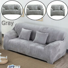 Ultra Thick Velvet Elastic STRETCH SOFA COVERS Slipcover Protector 1/2/3/4Seater