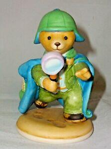 "A FRANKLIN MINT FINE PORCELAIN TEDDY BEAR 🐻 FIGURINE ""Mr LOOSELY"""