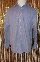 Mens Michael Kors Button Down Dress Shirt SZ 16 1/2 34/35 Blue Purple White