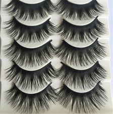 Black Natural Long Fake Eye Lashes Handmade Thick False Eyelashes 5 Pairs