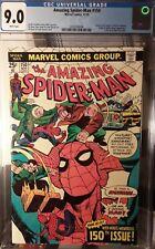 AMAZING SPIDER-MAN #150 CGC 9.0 WH pgs!! VULTURE KINGPIN SANDMAN GORGEOUS BOOK!