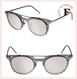 DOLCE & GABBANA PRINCE 2196 Grey Silver Mirrored Round Sunglasses DG2196S Men
