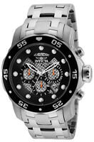 Invicta Men's Pro Diver Chronograph 200m Stainless Steel Black Dial Watch 25331