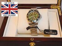 🇬🇧Seamaster Submariner Homage HULK Quality Luxury Box 007 N.A.T.O Strap+Tools
