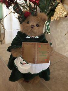 """Bearington Bears MISSY SUGARBAKER #173031 2007 10"""" Plush Xmas🐻Green Dress MWT🍪"""