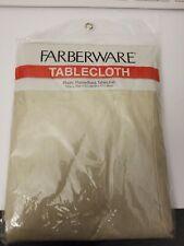 "Farberware Plastic Fannelback Tablecloth 52"" x 70"""
