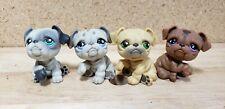 Littlest Pet Shop Authentic Bulldog Lot of 4 Figures 916 881 446 107