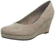 TAMARIS TREND 22434 [ GR. 42 ] DAMEN CANVAS KEILPUMPS PUMPS BRAUN NEU