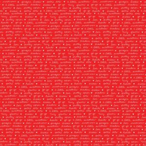 A Little Sweetness Red Text by Tasha Noel for Riley Blake, 1/2 yard fabric