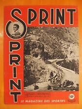 SPRINT N° 27 du 8/5/1946.Vedette Puig-Aubert. Paris-Nice-Rugby à XIII et à  XV