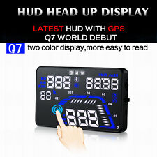 "Q7 5.5"" Car HUD Head Up Display GPS Speed Warning System Fuel Consumption Gauges"