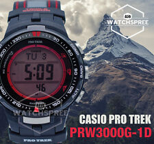 Casio Digital Sport Mens Pro Trek Black Watch Prw-3000g-1d