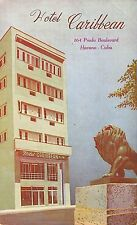 CUBA -VERY RARE! 1950's Hotel Caribbean in HAVANA, Cuba - La Habana