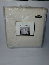 Historic Charleston Foundation King Charles Ivory Matelasse Queen Bedspread NWT