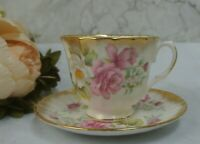 Magnificent Vintage Royal Winchester Bone China Tea Cup and Saucer