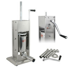 Commercial Sausage Stuffer 3L Stainless Steel Vertical Meat Maker Filler 4 Tubes