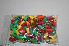 100 Stück Kabelstecker und Muffen farbig sortiert Spur H0 #H53