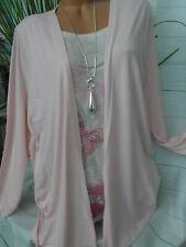 Paola Bluse Shirt Lagenshirt Gr 46 bis 60 Übergröße Rosa weiß (782)