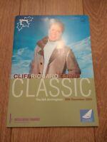 CLIFF RICHARD * TENNIS CLASSIC * BIRMINGHAM 2003 PROGRAMME & TICKET STUB
