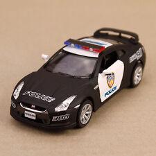 2009 Nissan GT-R R35 Police Model Car Matt Black 1:36 Scale Pull-Back 13cm Long