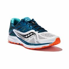 Saucony Ride 10 Men's Running Shoes (Size 15) White Teal Orange S20373-3