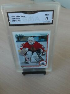1990 Upper Deck Hockey #55 Ed Belfour Blackhawks HOFer RC GMA Graded MINT *9*!
