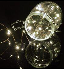 Set 50 LED Cool White Fata Decorativo Filo di Rame Luci di Natale Xmas Indoor
