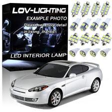 White 6000K Interior LED Lights Bulbs Package Kit For 2003-2008 Hyundai Tiburon