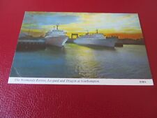 The Normandy Ferries Leopard & Dragon at Southampton. Postcard