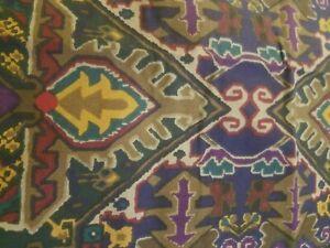 Vintage Ralph Lauren Euro Sham Oxfordshire? Aztec Pattern Navy, Gold, Red