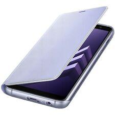 Samsung Custodia Originale Galaxy A8 2018 A530F Neon Flip Cover libro Case Viola