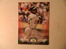2018 Topps 2 Salute Red Parallel card of Rickey Henderson - Athletics 7/10  MADE
